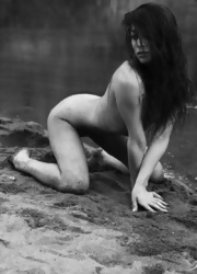 Ally Poses Nude By The River - Picture 12